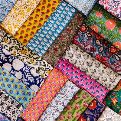 Cotton Hand Block Print Fabrics