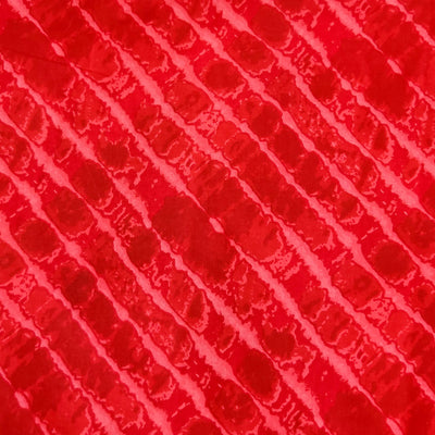 Pure Cotton Screen print Red Fabric