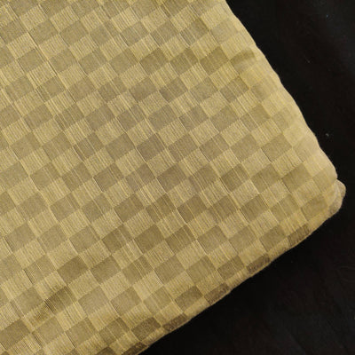 Cotton Silk Cream With Interlocked Checks FabricBanarasi Brocade