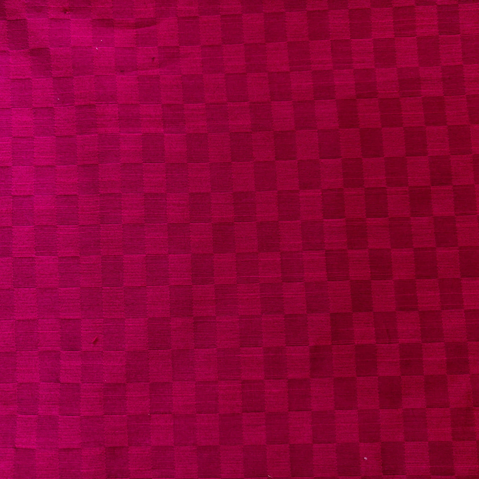 Cotton Silk Rani Pink With Interlocked Checks Fabric