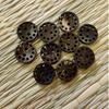 Pack Of Five Dark Brown Wooden Button With Holes