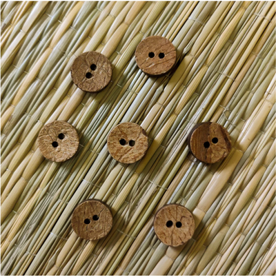 Pack Of Five Plain Wooden Button
