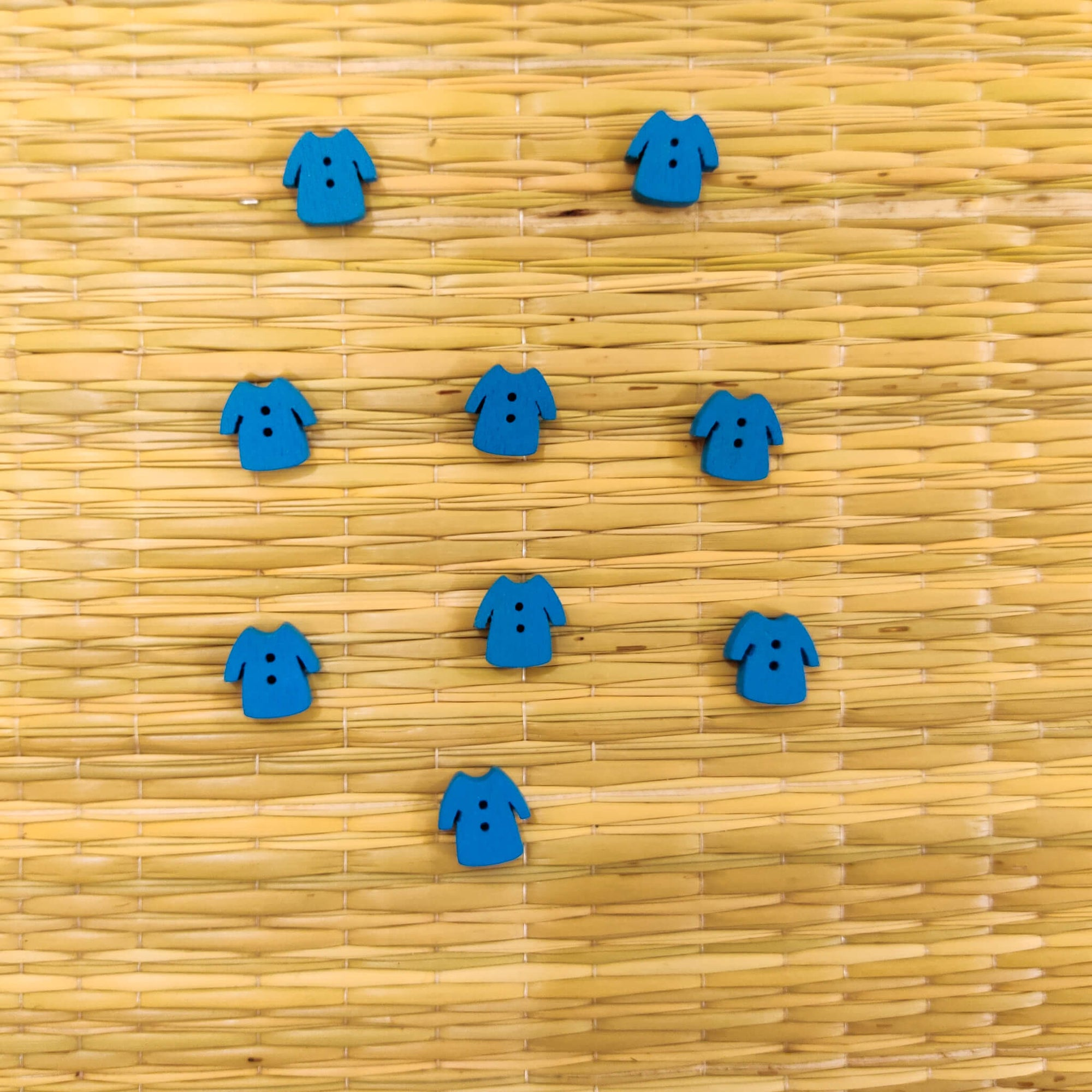 Pack Of Four Blue Shirt Button