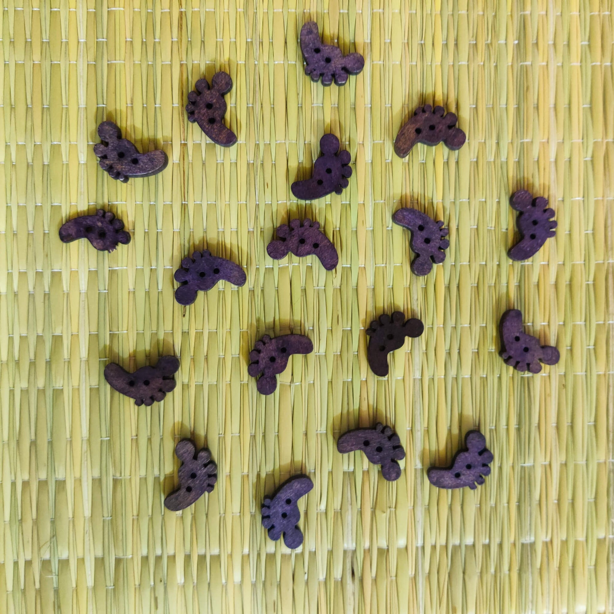 Pack Of Four Purple Foot Button