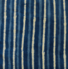 Pure Cotton Indigo With Stripes Hand Block Print Fabric
