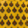 PreCut 1.5 Meters Pure Cotton Yellow Ajrak With Intricate Ajrak Motif Hand Block Print Fabric