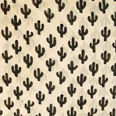 Pure Cotton Dabu Jahota Cactus Hand Block Print Fabric