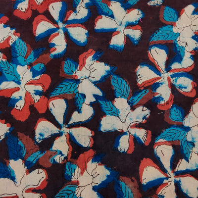 Pure Cotton Dabu Jahota With Shoeflowers Hand Block Print Fabric
