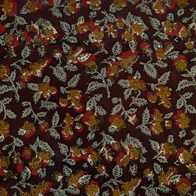 Pure Cotton Dabu Jahota With grey And Mustard Jaal Hand Block Print Fabric