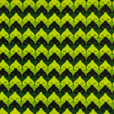 Pure Cotton Dabu Shades Of Green Arrow Head Stripes Hand Block Print Blouse Fabric (1 meter)