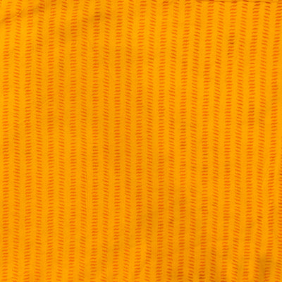 Pure Cotton Dabu Yellow With Mango Tiny Lines Hand Block Print Fabric