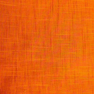 Pure Cotton Handloom Sunset Orange With Maroon Slub Woven Fabric