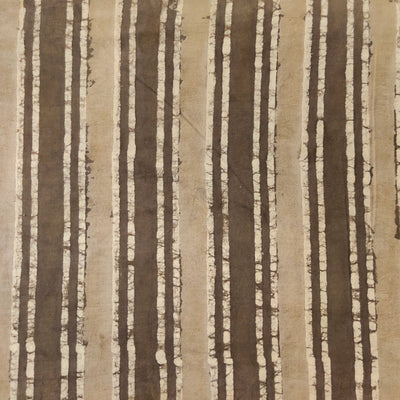 Pure Cotton Kashish Big Small Stripes Hand Block Print Fabric