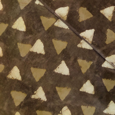 Pure Cotton Kashish With Triangles Motif Hand Block Print Fabric