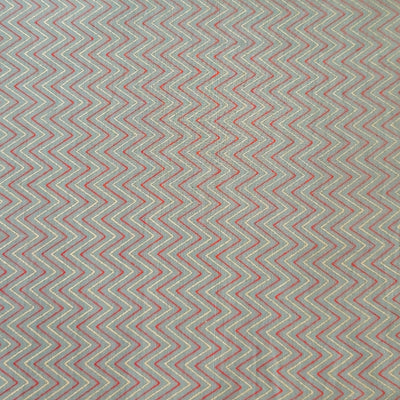 Pure Cotton Light Grey With Fine Zig Zag Screen Print Fabric