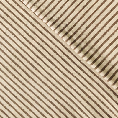 Pure Cotton Light Kashish Stripes Hand Block Print Fabric