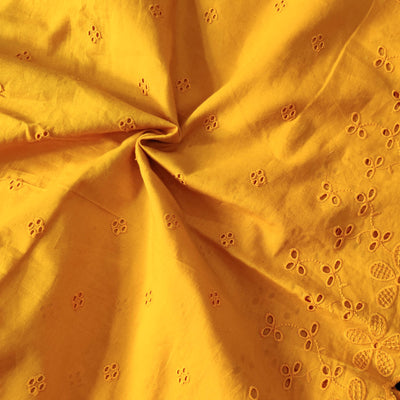 Pure Cotton Mustard Chiken Fabric