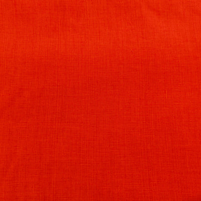Pure Cotton Textured Dark Orange Woven Fabric