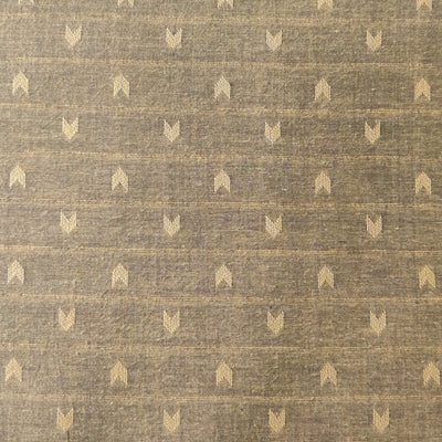 Pure South Cotton Ash Grey With Arrow Heads Woven Fabric