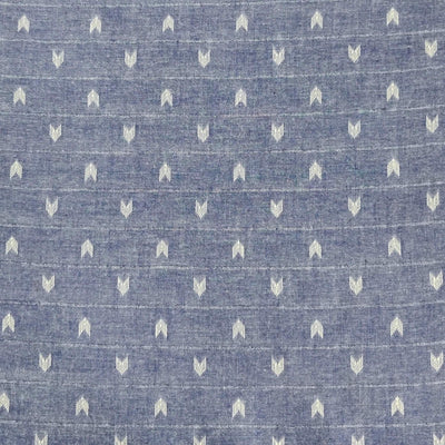 Pure South Cotton Blue With Arrow Heads Woven Fabric