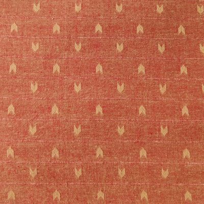 Pure South Cotton Peachy Brown With Arrow Heads Woven Fabric