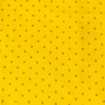 Pure South Cotton Yellow With Arrow Heads Woven Fabric