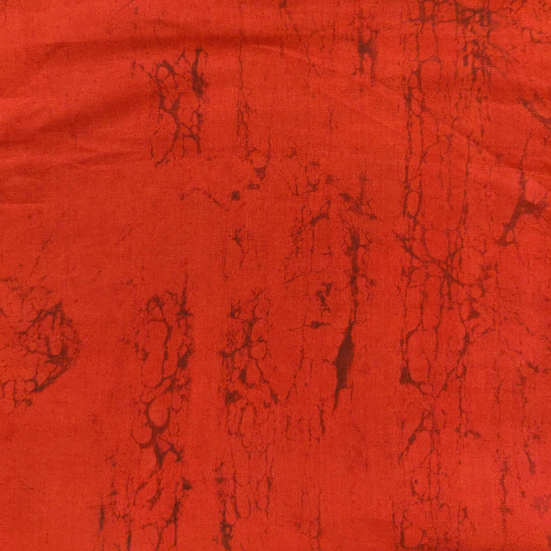 Pure Cotton Dabu Red Plain Dyed blouse Fabric ( 90 meter )