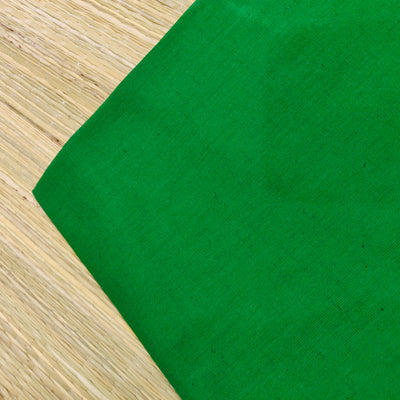 Pure Cotton Dark Green Plain Handloom Cotton  Fabric