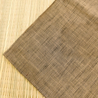 Pure Cotton Handloom Light Brown Grey With Tiny Black Slubs Hand Woven Fabric