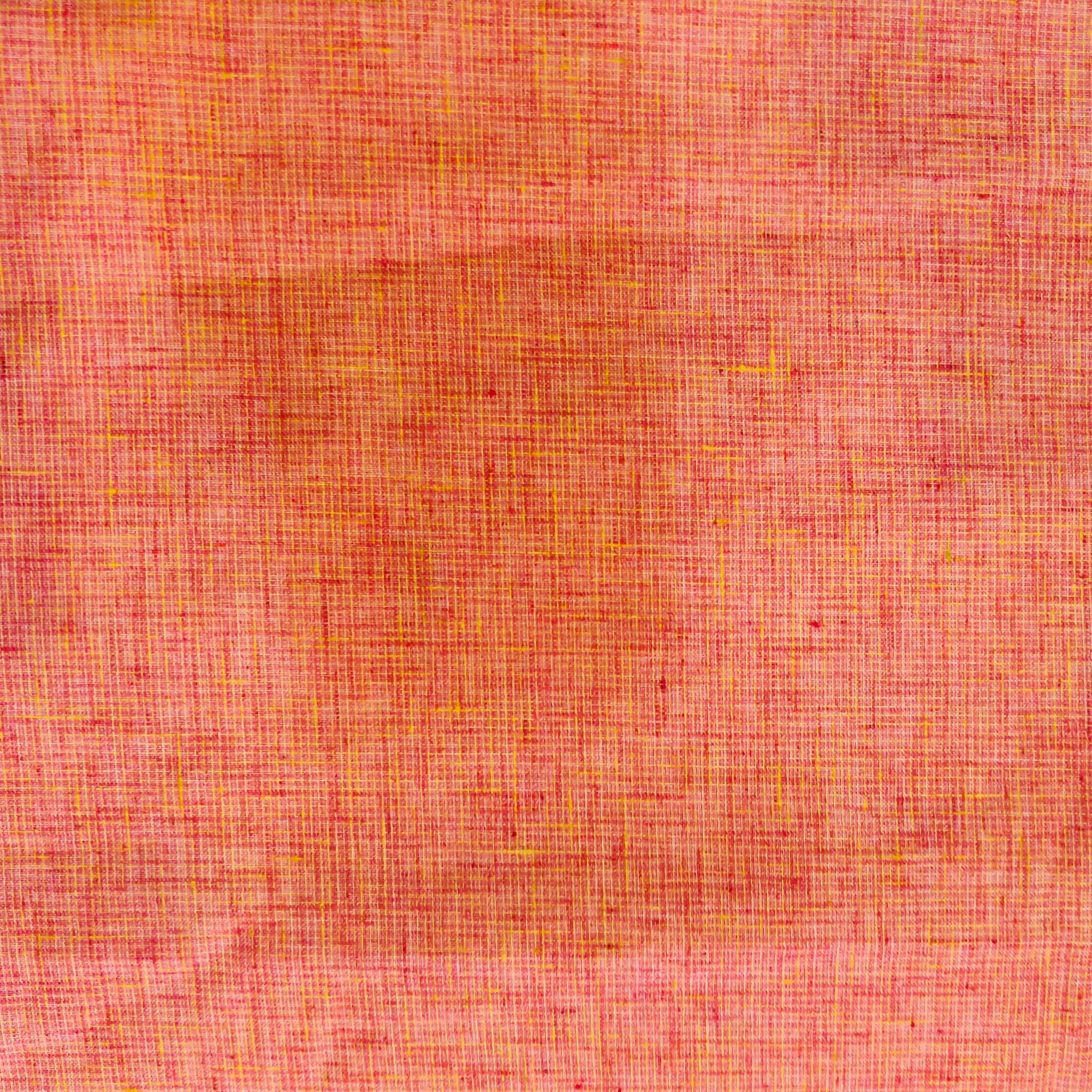 Pure Cotton Handloom Pink With Red Yellow Tint Hand Woven Fabric