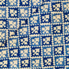 Pure Cotton Jaipuri Light Blue And Dark Blue Intricate Diagonal Checks Hand Block Print Fabric