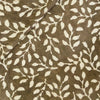 Pure Cotton Kashish With Cream Leafy Jaal Hand Block Print Fabric