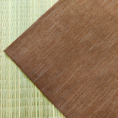 Pure Cotton Light Brown With White Slub Handloom Fabric