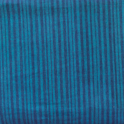 Pure Cotton Mangalgiri Shaded Blue Woven Fabric