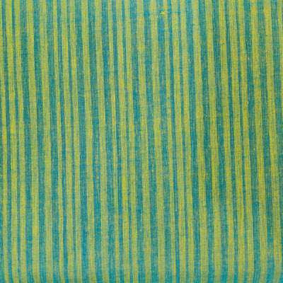 Pure Cotton Mangalgiri Shaded Green Woven Fabric