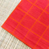 Pure Cotton Orange With Pink Woven Lines Fabric