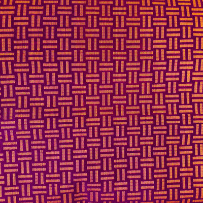 Pure Cotton Purple Handloom With Mustard Equal To Weaves Hand Woven Fabric