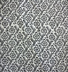 Pure Cotton White With Black Coma And Flower Hand Block Print Fabric