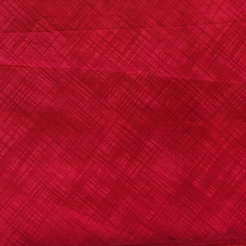 Pure Glazed Cotton Red With Textured Finish