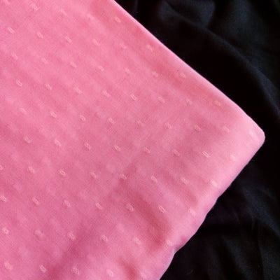 Pure Mul Cotton Pastel Pink Doby Fabric