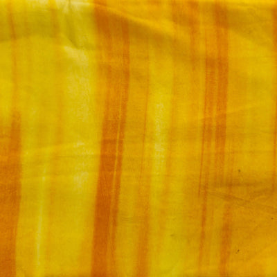 Rayon Cotton With Yellow Sibori Textured Screen Print
