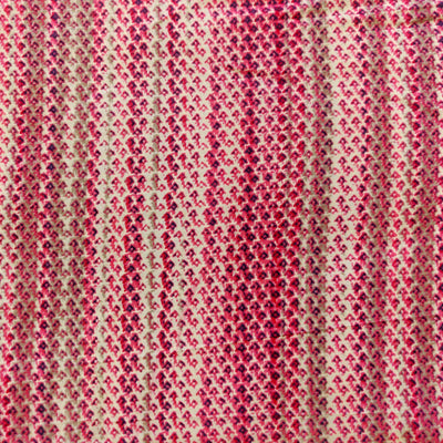 Rayon Shades of Pink Dots Stripes Scren Print Fabric
