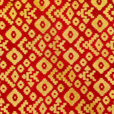 Redish Maroon Brocade With Heavy Gold Zari Weaving Hand Woven Banarasi Fabric Redish Maroon Brocade With Heavy Gold Zari Weaving Hand Woven Banarasi Fabric