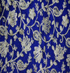 Royal Blue Crepe With All Over Gota Patti Jaal Fabric