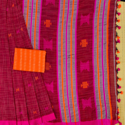 Sanskruti Latika Handloom Cotton Saree