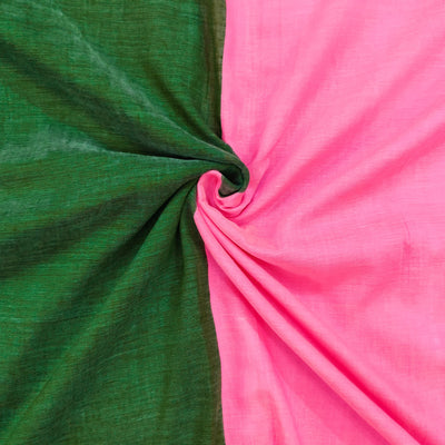 Sanskruti Piku Saree Fern Green And Rose Pink Half And Half Saree