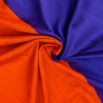 Sanskruti Piku Saree Royal Blue With Orange Pallu