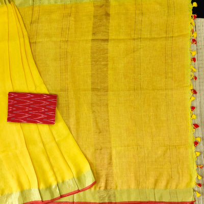 Sanskruti The First Ray Linen Saree