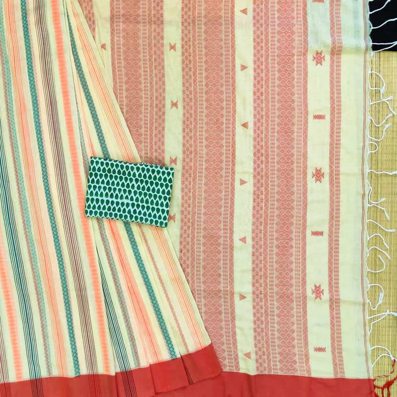 Sanskruti Veena Handloom Cotton Saree