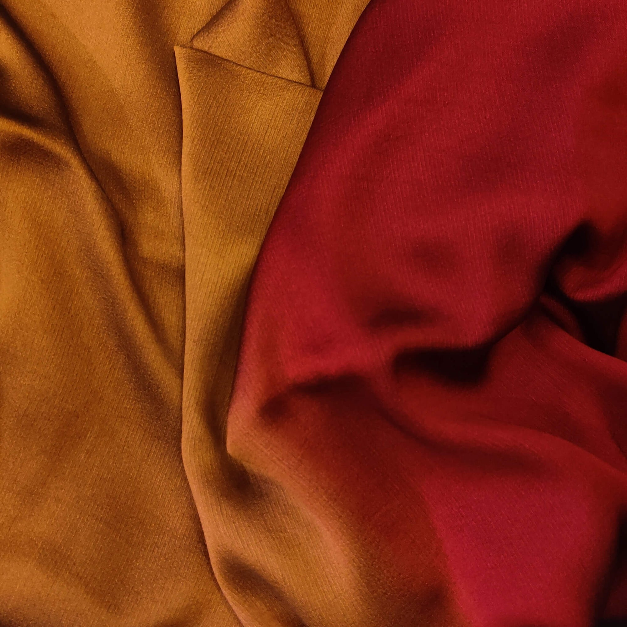Shaded Brown And Maroon Harmony Chiffon Flowing Fabric